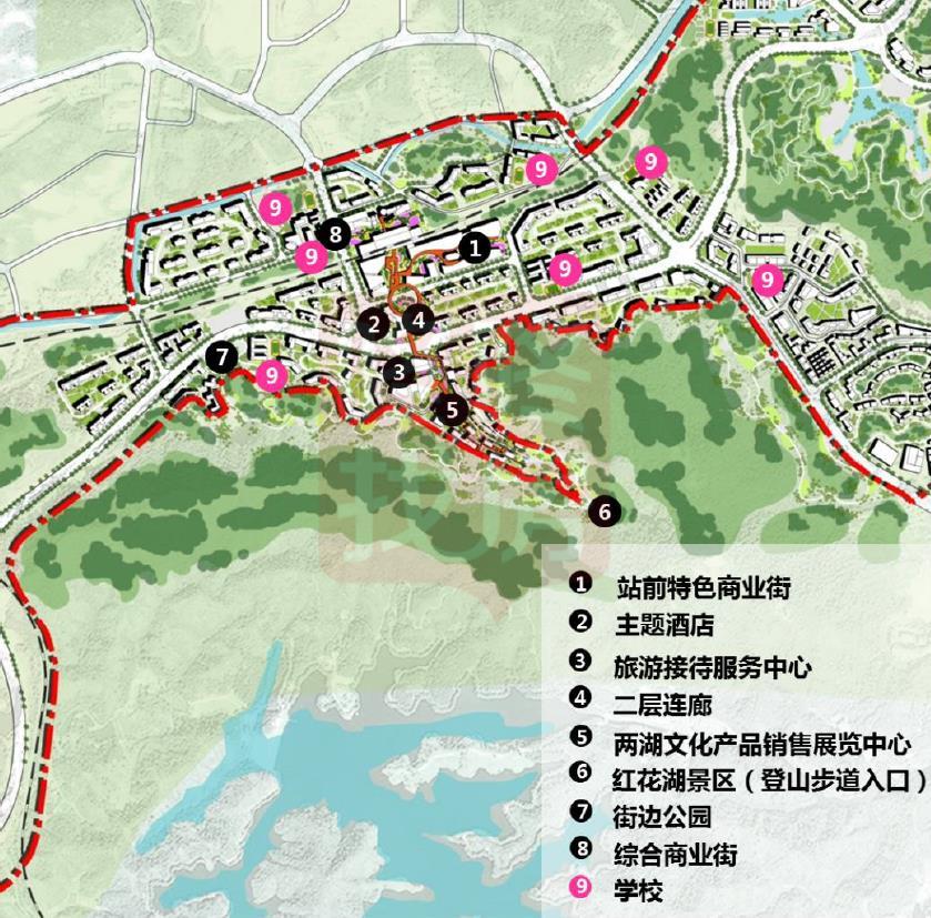 西区城市设计总平面图(来源:惠州市住建局)