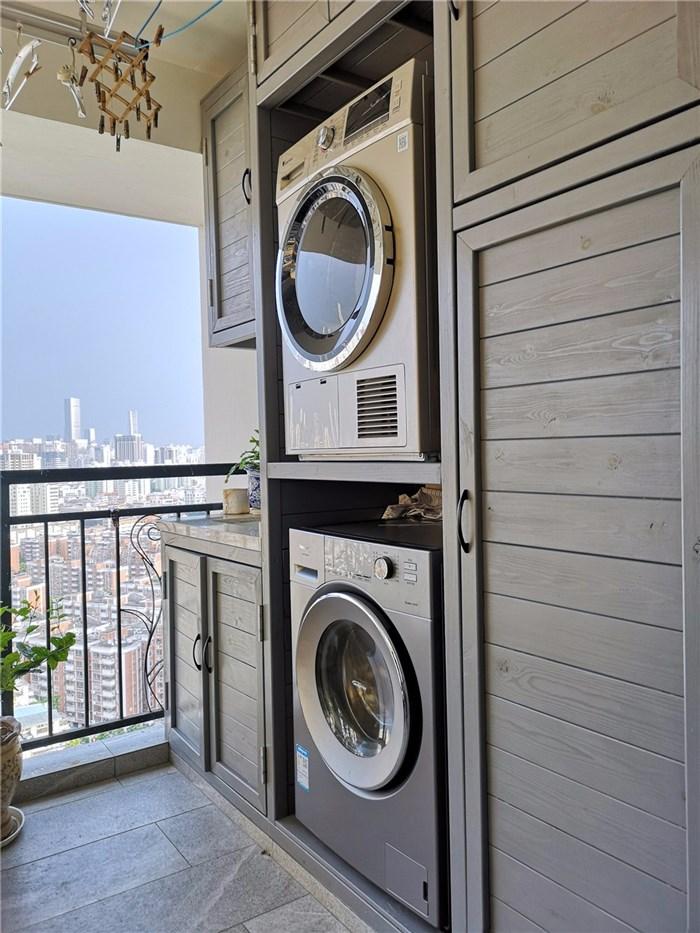 阳台洗衣机柜图片