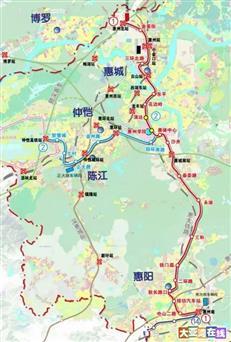 惠州地铁1号线力争年内动工 同步规划延伸至惠阳大亚湾