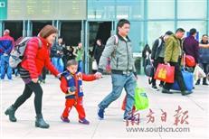 惠州南站春运高峰期来临 预计日发送1.3万人次