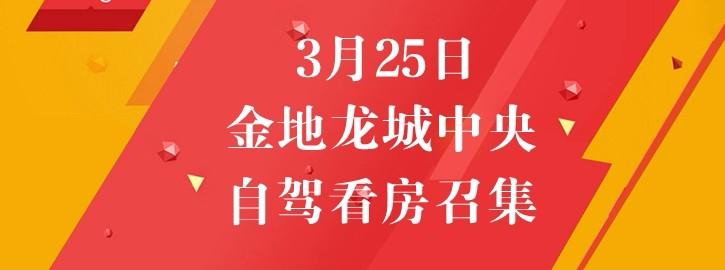 【咚咚看房团】3月25日地铁口物业,金地龙城中央自驾看房召集