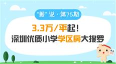 3.3万/平起!深圳优质小学学区房大搜罗-咚咚地产头条