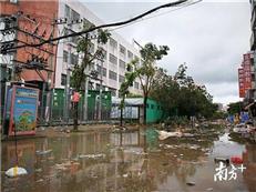受台风山竹影响 惠州24所学校不能按时复课
