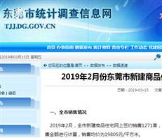 【东莞楼市月报】2月成交均价近2万/㎡ 上涨8%