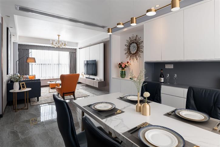 《清欢》--168m²现代简约之家,黑白灰打造清雅恬适之居