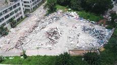 市十七高级中学建设高效推进,3000余平建筑主体全部拆除!