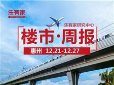 12月第4周:惠州一手住宅网签2325套,环比下降16.3%